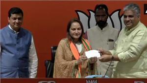 जयाप्रदा भाजपा में शामिल  रामपुर सीट पर आजम खान को दे सकती हैं चुनौती