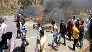 Image result for त्रिपुरा में 13 जिलों में भारी हिंसा