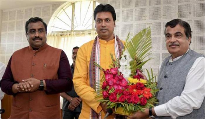 त्रिपुरा में आज से होगा 'भगवाराज', बिप्लवदेब लेंगे सीएम की शपथ, पीएम और भाजपाध्यक्ष भी रहेंगे मौजूद