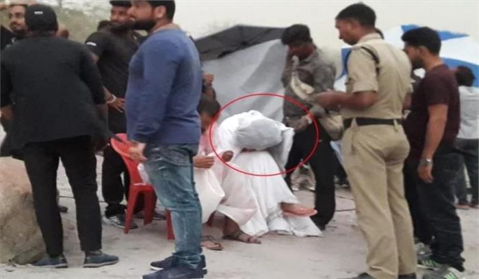 ऋषिकेश में शूटिंग के दौरान कुछ हुआ ऐसा कि अभिनेत्री मल्लिका शेरावत मुंह नीचे करके बैठी रहीं