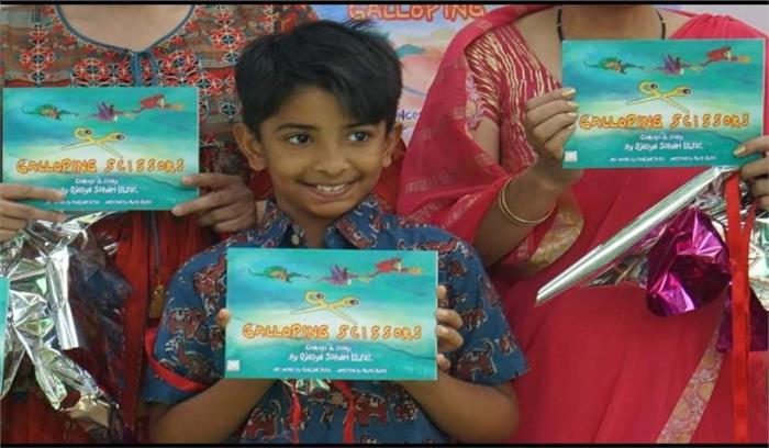 दून निवासी महज 11 साल का 'ओजस्य' बना लेखक, 'द गैलोपिंग सिजर्स' नाम की किताब हुई प्रकाशित