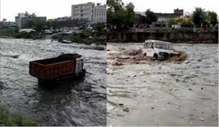सौंग नदी में अचानक आई बाढ़, गौहरीमाफी गांव के सैकड़ों परिवार फंसे, बचाव कार्य जारी