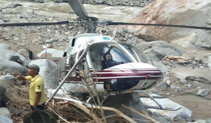 उत्तरकाशी आपदा : राहत सामाग्री लेकर जा रहा एक और हेलीकॉप्टर क्रैश होने से बचा , करवाई इमरजेंसी लैंडिंग