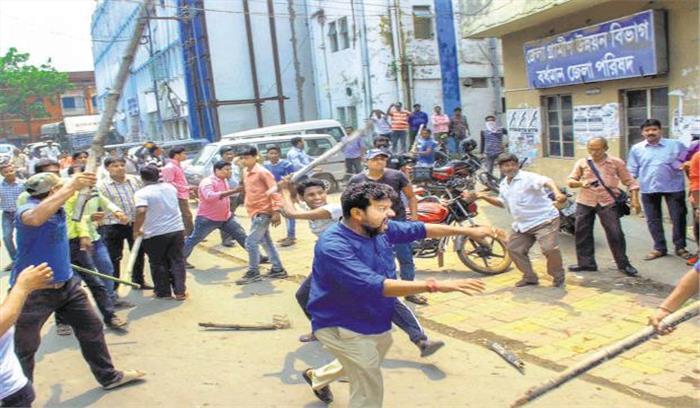 पश्चिम बंगाल में 'खूनी' हुआ पंचायत चुनाव, दक्षिण परगना में 5 लोगों की मौत