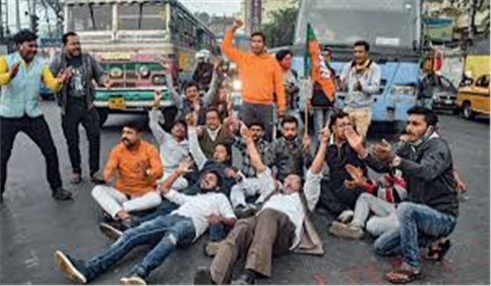 बंगाल में BJP - TMC में ठनी , प्रशान ने सत्तारूढ़ दल की बाइक रैली को अनुमति दी , भाजपा को जनसमर्थन यात्रा की इजाजत नहीं